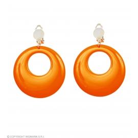 Boucles d'oreilles orange néon