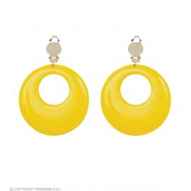 Boucles d'oreilles jaune néon