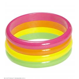 Set de 4 bracelets néon