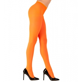 Collants néon orange