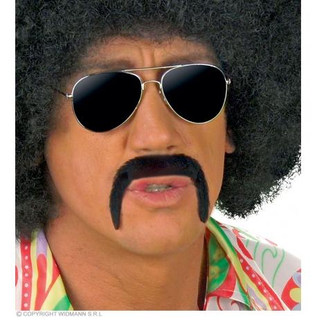 Moustache années 70 adhésive