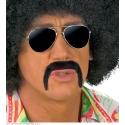 Moustache noire années 70 adhésive