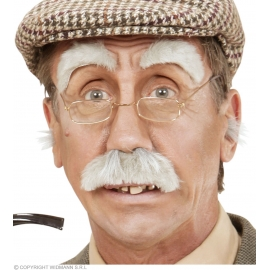 Sourcils et moustache vieillard