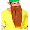 Barbe longue avec moustache roux