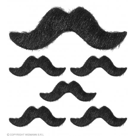 Set de 6 moustaches adhésives