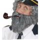 Moustache avec barbe grise