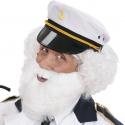 Moustache avec barbe blanche