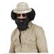 Moustache avec barbe noire