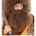 Moustache avec barbe primitif brune