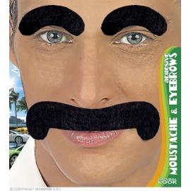 Moustache et sourcils gentleman adhésifs