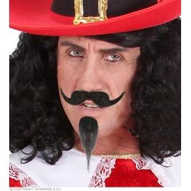 Set moustache mousquetaire adhésif