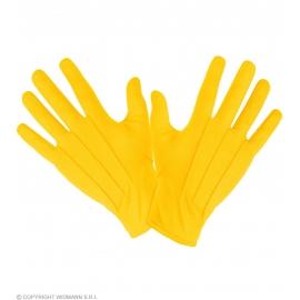 Gants courts jaunes