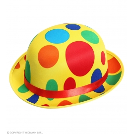 Chapeau melon clown satin