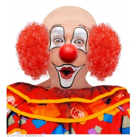 Coiffe de clown cheveux rouges