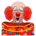 Coiffe de clown cheveux rouges