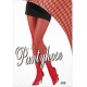 Collants resille rouges