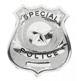 Insigne police argenté