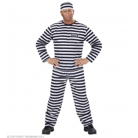 Déguisement Prisonnier noir et blanc