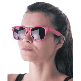 Lunettes fluo roses