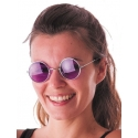 Lunettes hippie violettes