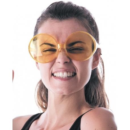 Lunettes hippy jaunes géantes