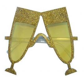 Lunettes paillettes Champagne Or