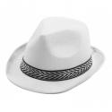 Chapeau borsalino polyester blanc