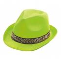 Chapeau borsalino polyester vert