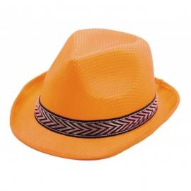 Chapeau borsalino polyester jaune